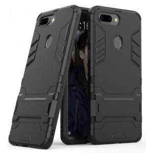 Protection Solide Type Otterbox Noir Pour Oppo R15