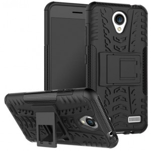 Protection Solide Type Otterbox Noir Pour ZTE Blade A520
