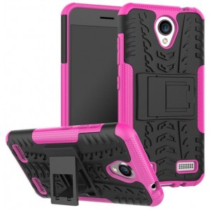 Protection Antichoc Type Otterbox Rose Pour ZTE Blade A520