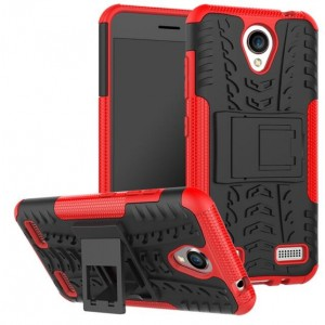 Protection Antichoc Type Otterbox Rouge Pour ZTE Blade A520