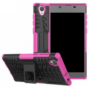 Protection Antichoc Type Otterbox Rose Pour Sony Xperia L1