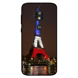 Coque De Protection Tour Eiffel Couleurs France Pour Motorola Moto E5 Play