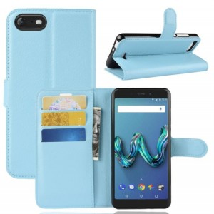 Protection Intégrale Portefeuille Cuir Bleu - Wiko Tommy 3