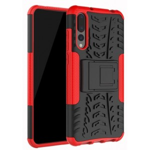 Protection Antichoc Type Otterbox Rouge Pour Huawei P20 Pro