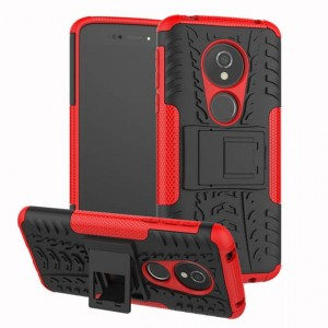 Protection Antichoc Type Otterbox Rouge Pour Motorola Moto E5 Play