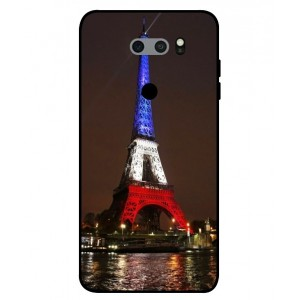 Coque De Protection Tour Eiffel Couleurs France Pour LG V30S ThinQ