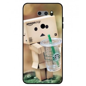 Coque De Protection Amazon Starbucks Pour LG V30S ThinQ