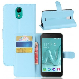 Protection Intégrale Portefeuille Cuir Bleu - Wiko Kenny