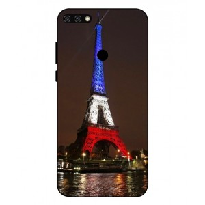 Coque De Protection Tour Eiffel Couleurs France Pour Huawei Honor 7C