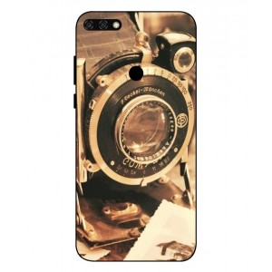 Coque De Protection Appareil Photo Vintage Pour Huawei Honor 7C
