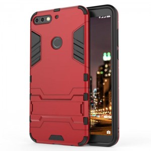 Protection Antichoc Type Otterbox Rouge Pour Huawei Honor 7C