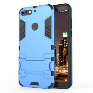 Protection Antichoc Type Otterbox Bleu Pour Huawei Honor 7C