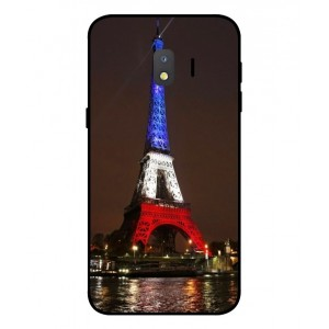 Coque De Protection Tour Eiffel Couleurs France Pour Samsung Galaxy J2 Core