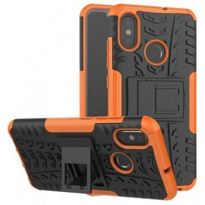 Protection Antichoc Type Otterbox Orange Pour Xiaomi Mi 8