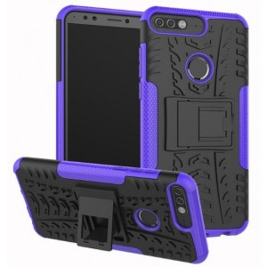 Protection Antichoc Type Otterbox Violet Pour Huawei Y7 2018