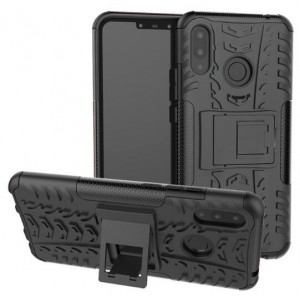 Protection Solide Type Otterbox Noir Pour Huawei P Smart Plus