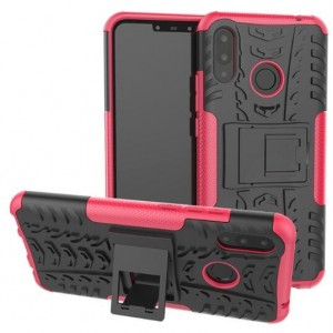 Protection Antichoc Type Otterbox Rose Pour Huawei P Smart Plus