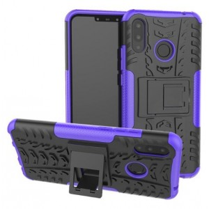 Protection Antichoc Type Otterbox Violet Pour Huawei P Smart Plus