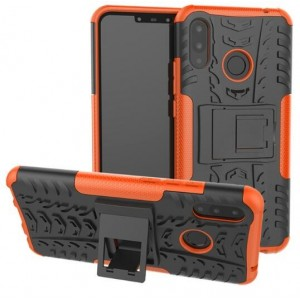 Protection Antichoc Type Otterbox Orange Pour Huawei P Smart Plus