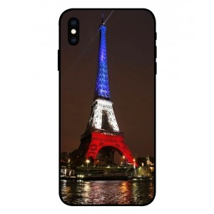 Coque De Protection Tour Eiffel Couleurs France Pour iPhone XS Max