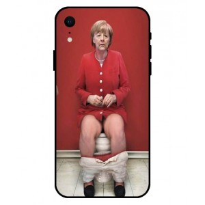 Coque De Protection Angela Merkel Aux Toilettes Pour iPhone XR