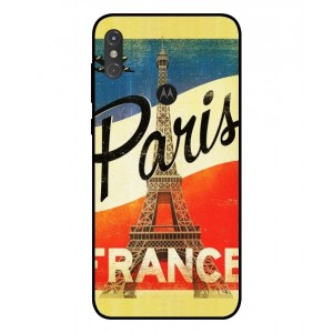 Coque De Protection Paris Vintage Pour Motorola One