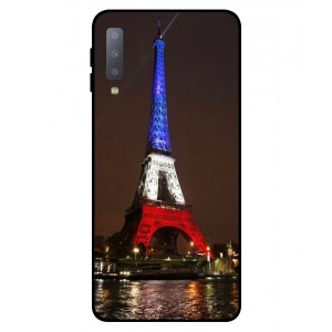 Coque De Protection Tour Eiffel Couleurs France Pour Samsung Galaxy A7 2018