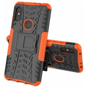 Protection Antichoc Type Otterbox Orange Pour Xiaomi Redmi Note 6 Pro