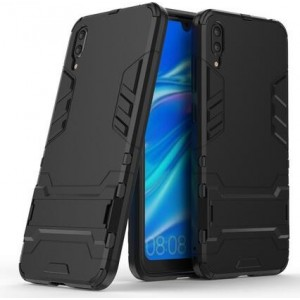 Protection Solide Type Otterbox Noir Pour Huawei Y7 Pro 2019