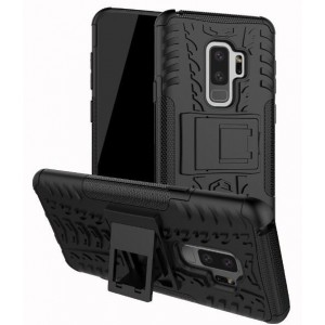 Protection Solide Type Otterbox Noir Pour Samsung Galaxy S9 Plus