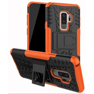 Protection Antichoc Type Otterbox Orange Pour Samsung Galaxy S9 Plus