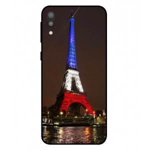 Coque De Protection Tour Eiffel Couleurs France Pour Samsung Galaxy M10