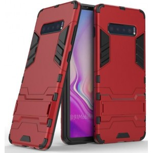 Protection Antichoc Type Otterbox Rouge Pour Samsung Galaxy S10 Plus