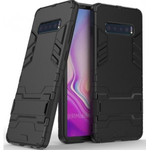 Protection Solide Type Otterbox Noir Pour Samsung Galaxy S10