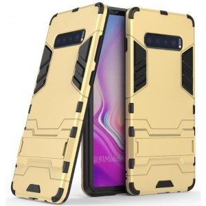 Protection Antichoc Type Otterbox Or Pour Samsung Galaxy S10