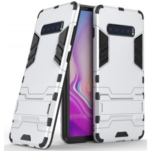 Protection Antichoc Type Otterbox Argent Pour Samsung Galaxy S10