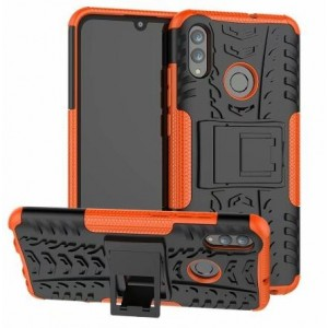 Protection Antichoc Type Otterbox Orange Pour Huawei Y6 2019