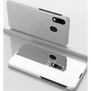 Protection Etui Flip Folio Dot View Blanc Pour Samsung Galaxy M30