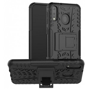 Protection Solide Type Otterbox Noir Pour Samsung Galaxy M30