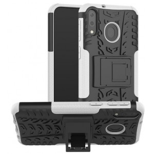 Protection Antichoc Type Otterbox Blanc Pour Samsung Galaxy M20