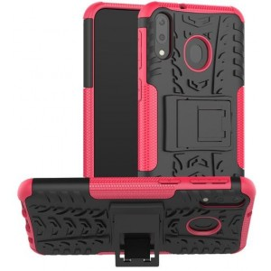 Protection Antichoc Type Otterbox Rose Pour Samsung Galaxy M20