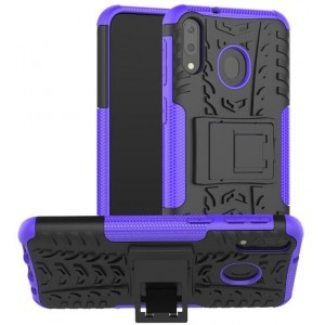 Protection Antichoc Type Otterbox Violet Pour Samsung Galaxy M20