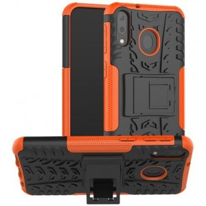 Protection Antichoc Type Otterbox Orange Pour Samsung Galaxy M20
