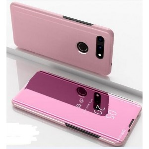 Protection Etui Flip Folio Dot View Rose Pour Huawei Honor View 20
