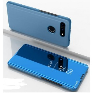 Protection Etui Flip Folio Dot View Bleu Pour Huawei Honor View 20