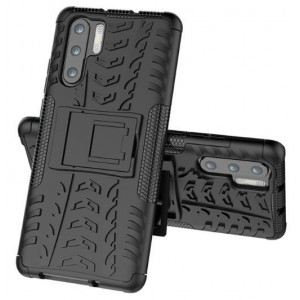 Protection Solide Type Otterbox Noir Pour Huawei P30 Pro