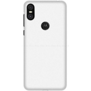Coque De Protection Rigide Blanc Pour Motorola One