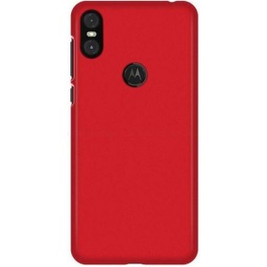 Coque De Protection Rigide Rouge Pour Motorola One