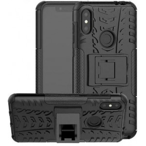 Protection Solide Type Otterbox Noir Pour Huawei P30 Lite