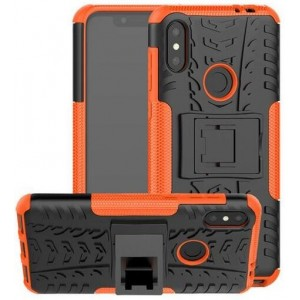 Protection Antichoc Type Otterbox Orange Pour Huawei P30 Lite